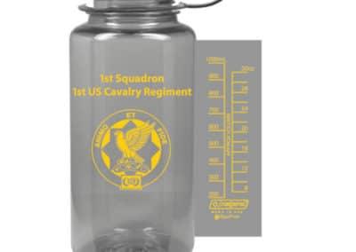 1st Squadron 1st US Cavalry Regiment Nalgene Bottle