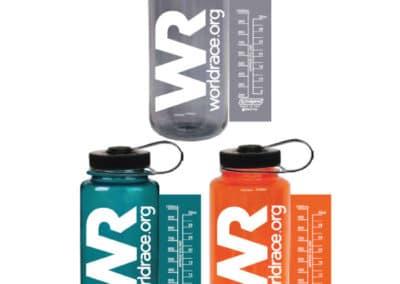 worldrace.org – custom printed Nalgene wide mouth